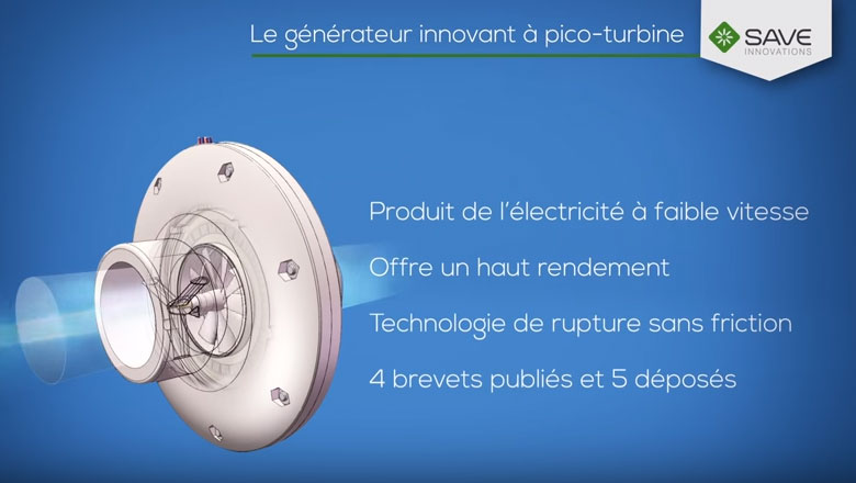 La pico-turbine créée par Save Innovations
